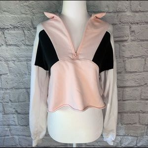 Hollister Pullover Cropped Hoodie